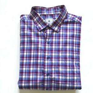 David Donahue Shirt Mens XXL Long Sleeve Plaid